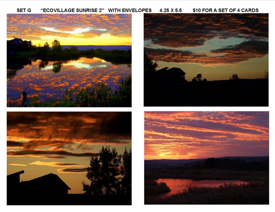 "Notecard Set G - ""Ecovillage Sunrise 2"""