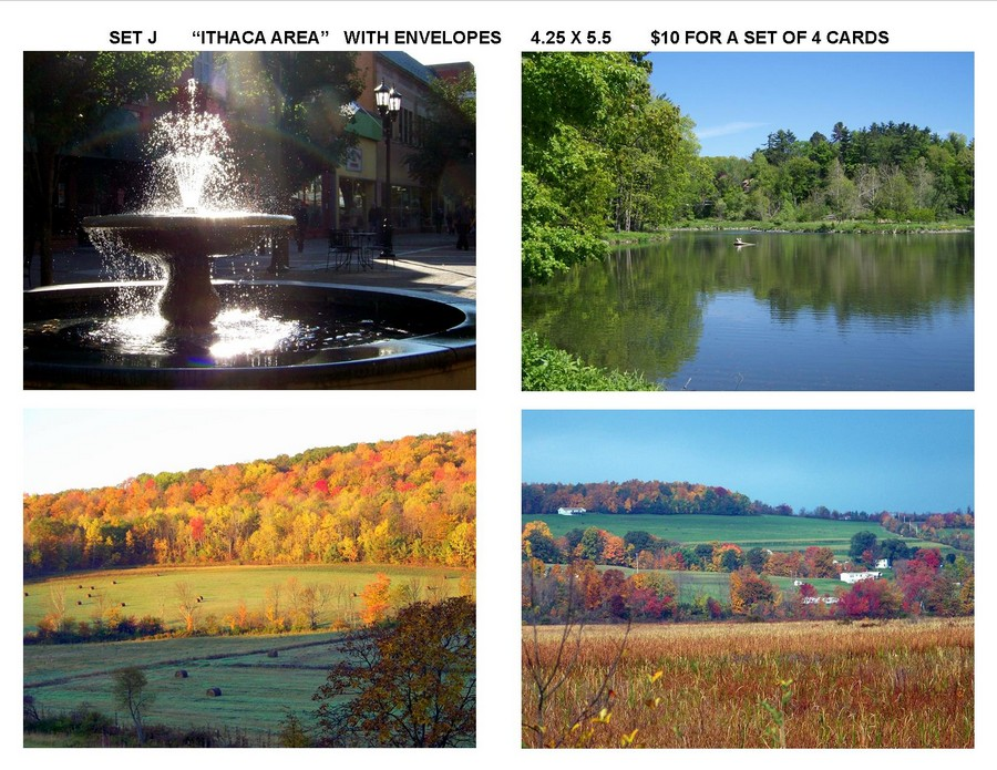 "Notecard Set J - ""Ithaca Area"""