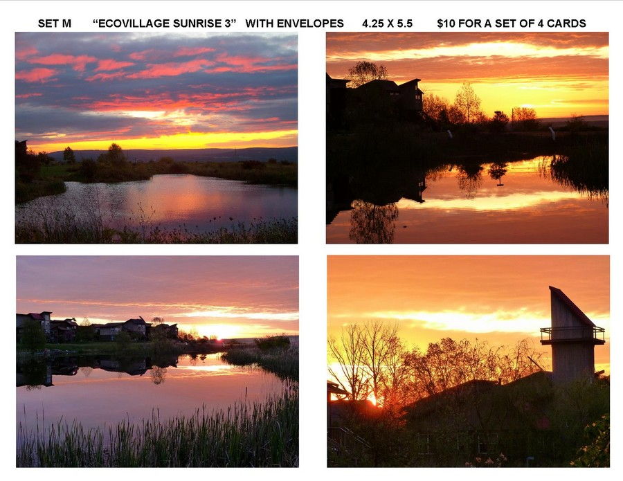 "Notecard Set M - ""Ecovillage Sunrise 3"""