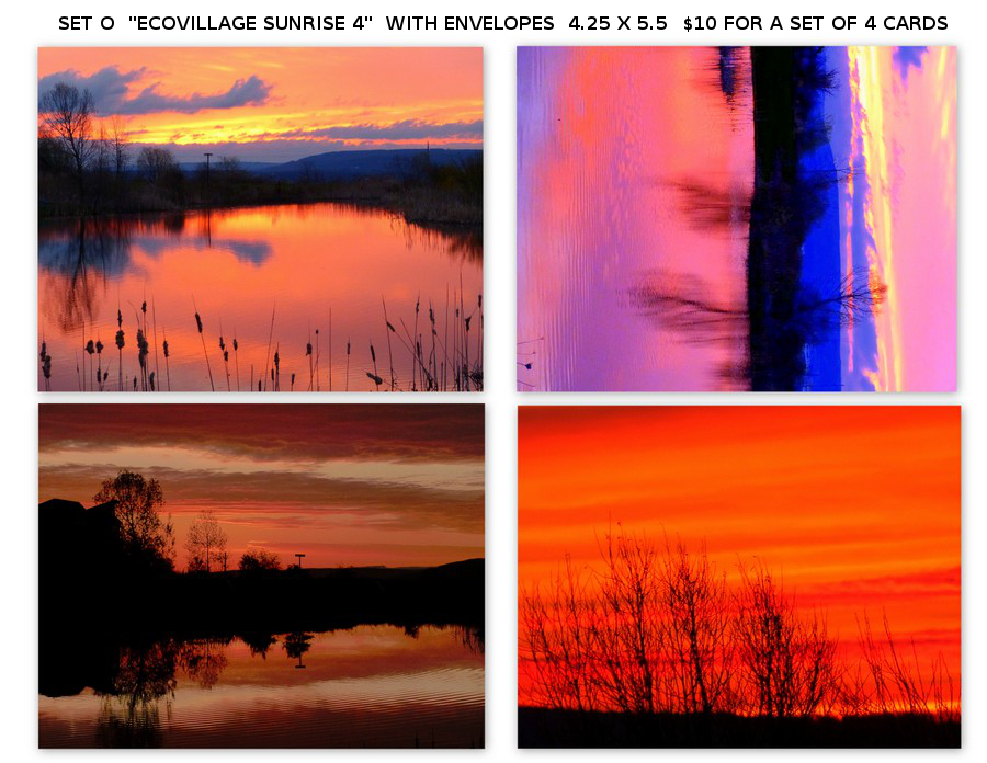 "Notecard Set O - ""Ecovillage Sunrise 4"""